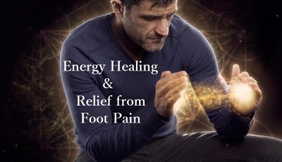 Energy healing and relief from foot pain